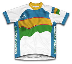 Karakalpakstan Flag Cycling Jersey for Men and Women