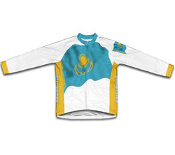 Kasakhstan Flag Winter Thermal Cycling Jersey