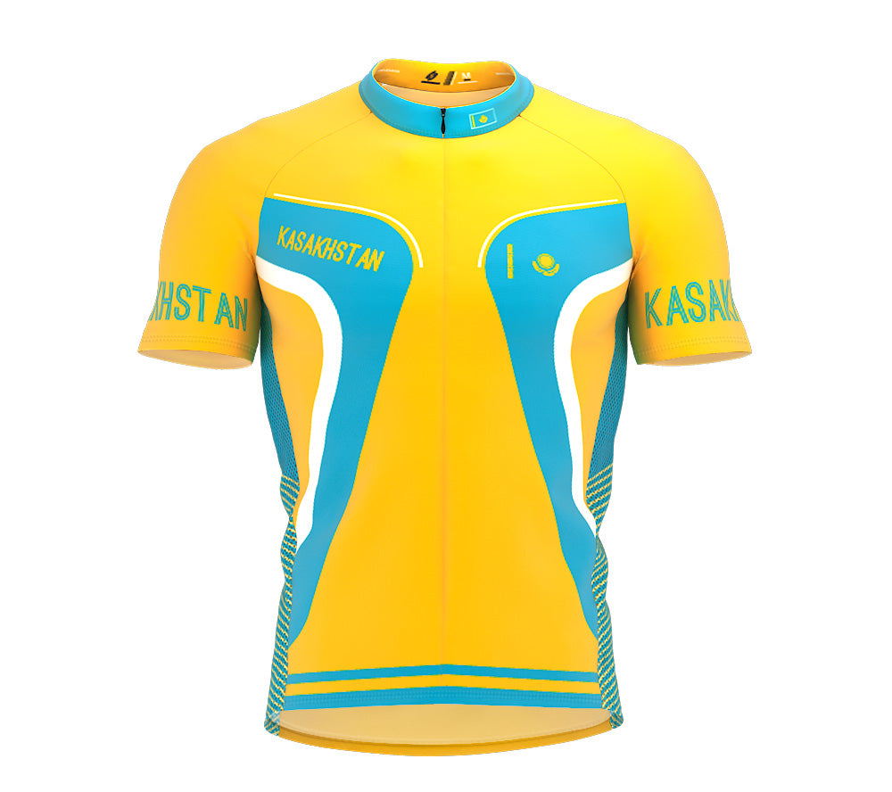 Kasakhstan  Full Zipper Bike Short Sleeve Cycling Jersey