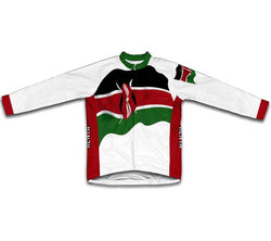 Kenya Flag Winter Thermal Cycling Jersey