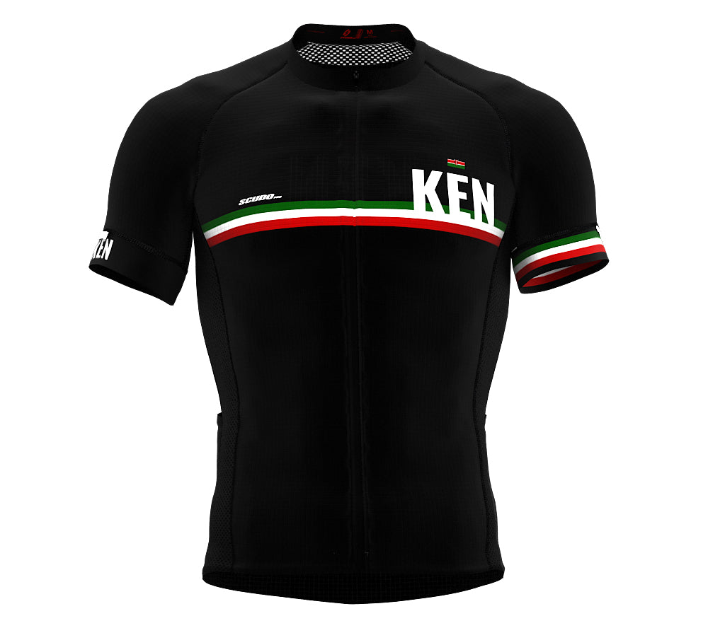 Kenya Black CODE Short Sleeve Cycling PRO Jersey for Men and WomenKenya Black CODE Short Sleeve Cycling PRO Jersey for Men and Women