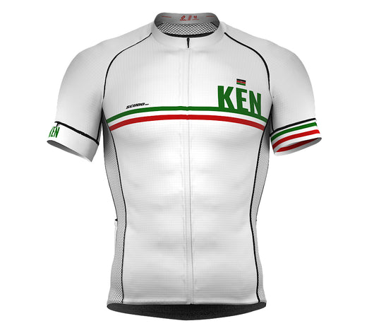 Kenya White CODE Short Sleeve Cycling PRO Jersey for Men and WomenKenya White CODE Short Sleeve Cycling PRO Jersey for Men and Women