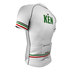Kenya White CODE Short Sleeve Cycling PRO Jersey for Men and Women