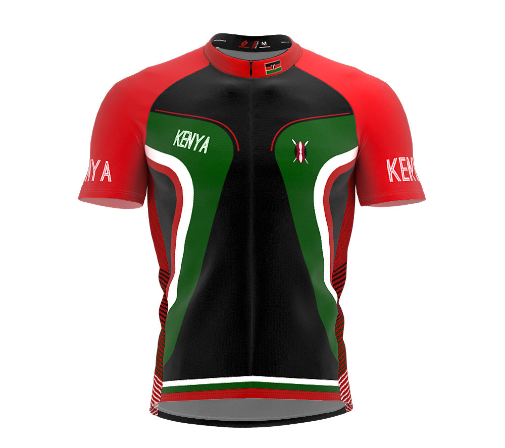 Kenya  Full Zipper Bike Short Sleeve Cycling Jersey