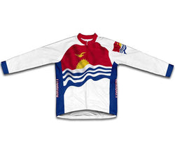 Kiribati Flag Winter Thermal Cycling Jersey