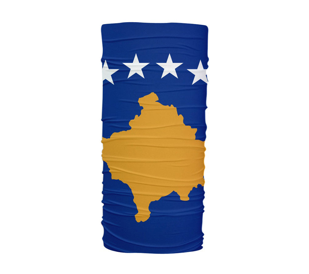 Kosovo Flag Multifunctional UV Protection Headband