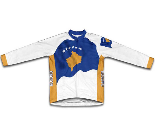 Kosovo Flag Winter Thermal Cycling Jersey