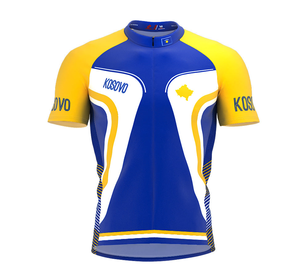 Kosovo  Full Zipper Bike Short Sleeve Cycling Jersey