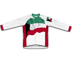 Kuwait Flag Winter Thermal Cycling Jersey