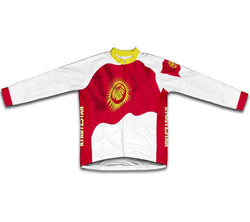 Kyrgyzstan Flag Winter Thermal Cycling Jersey