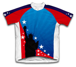 Lady Liberty Short Sleeve Cycling Jersey for Men and Women
