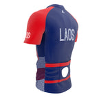 Laos  Full Zipper Bike Short Sleeve Cycling Jersey