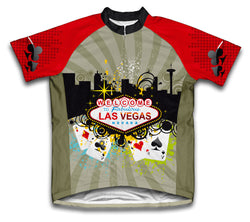 Las Vegas Fever Short Sleeve Cycling Jersey for Men and Women