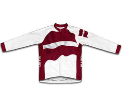 Latvia Flag Winter Thermal Cycling Jersey