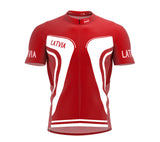 Latvia  Full Zipper Bike Short Sleeve Cycling Jersey