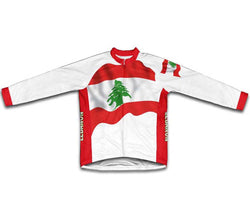 Lebanon Flag Winter Thermal Cycling Jersey