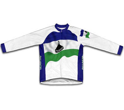 Lesotho Flag Winter Thermal Cycling Jersey