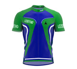 Lesotho  Full Zipper Bike Short Sleeve Cycling Jersey