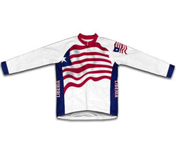 Liberia Flag Winter Thermal Cycling Jersey