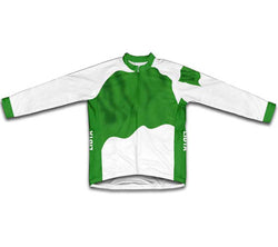 Libya Flag Winter Thermal Cycling Jersey