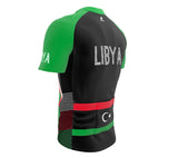 Libya  Full Zipper Bike Short Sleeve Cycling Jersey