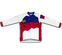 Liechtenstein Flag Winter Thermal Cycling Jersey