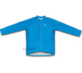 Keep Calm and Never Give Up Light Blue Winter Thermal Cycling Jersey