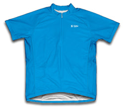 Light Blue Short Sleeve Cycling Jersey for Men and Women