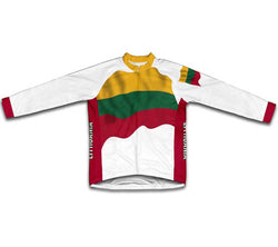 Lithuania Flag Winter Thermal Cycling Jersey