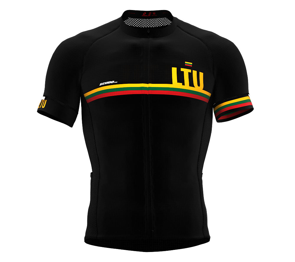 Lithuania Black CODE Short Sleeve Cycling PRO Jersey for Men and WomenLithuania Black CODE Short Sleeve Cycling PRO Jersey for Men and Women