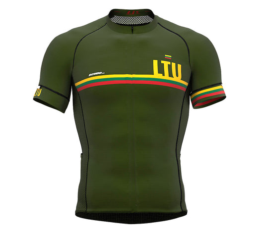 Lithuania Green CODE Short Sleeve Cycling PRO Jersey for Men and WomenLithuania Green CODE Short Sleeve Cycling PRO Jersey for Men and Women