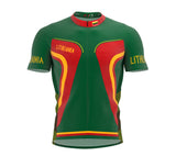 Lithuania  Full Zipper Bike Short Sleeve Cycling Jersey