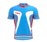 Luxembourg  Full Zipper Bike Short Sleeve Cycling Jersey