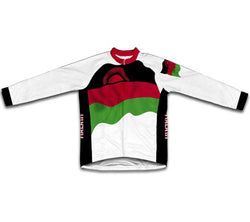 Malawi Flag Winter Thermal Cycling Jersey