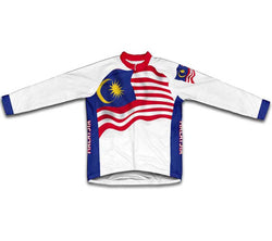 Malaysia Flag Winter Thermal Cycling Jersey