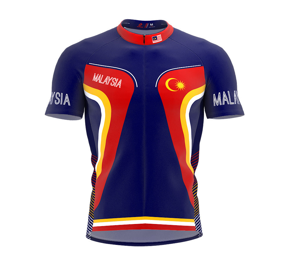 Malaysia  Full Zipper Bike Short Sleeve Cycling Jersey