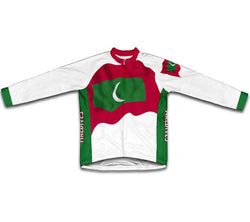 Maldives Flag Winter Thermal Cycling Jersey