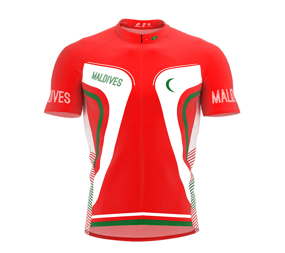 Maldives  Full Zipper Bike Short Sleeve Cycling Jersey