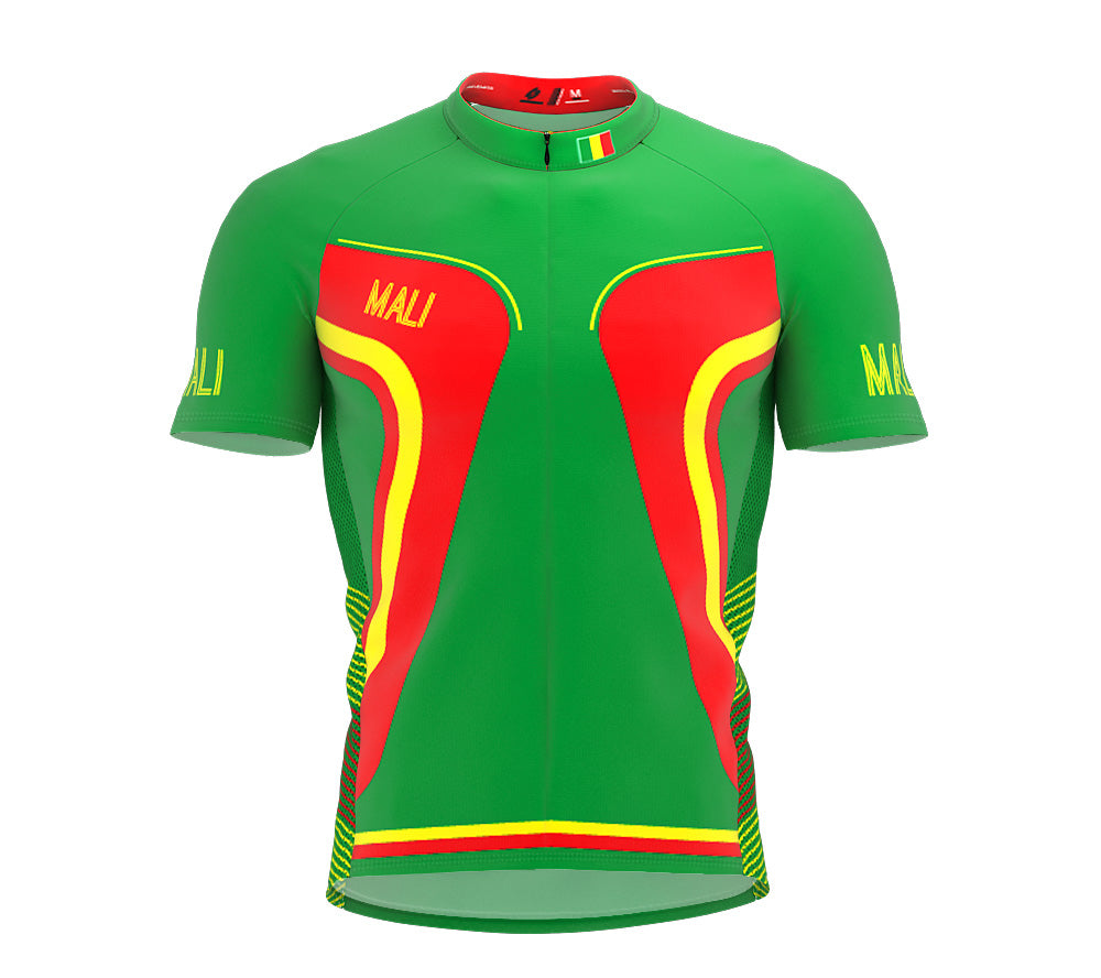 Mali  Full Zipper Bike Short Sleeve Cycling Jersey