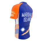 Marshall Islands  Full Zipper Bike Short Sleeve Cycling Jersey