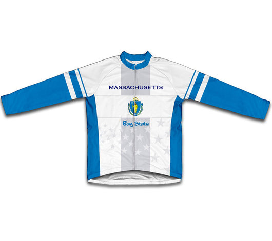 Massachusetts Flag Winter Thermal Cycling Jersey