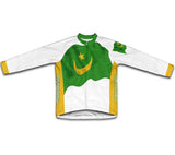 Mauritania Flag Winter Thermal Cycling Jersey