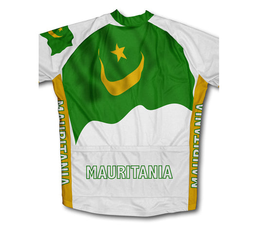 Mauritania Flag Short Sleeve Cycling Jersey Cycling Jersey for Men ... 3c10700a9