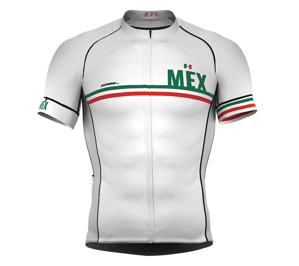 Mexico White CODE Short Sleeve Cycling PRO Jersey for Men and Women