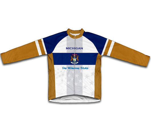 Michigan Flag Winter Thermal Cycling Jersey
