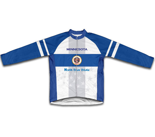 Minnesota Flag Winter Thermal Cycling Jersey