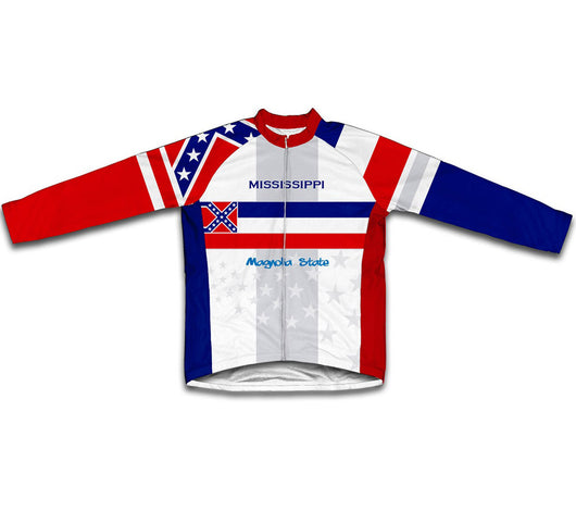 Mississippi Flag Winter Thermal Cycling Jersey
