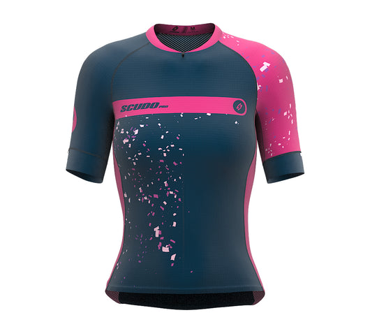 Mode On Pink Short Sleeve Cycling PRO Jersey