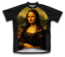 Mona Lisa Short Sleeve Cycling Jersey for Men and Women