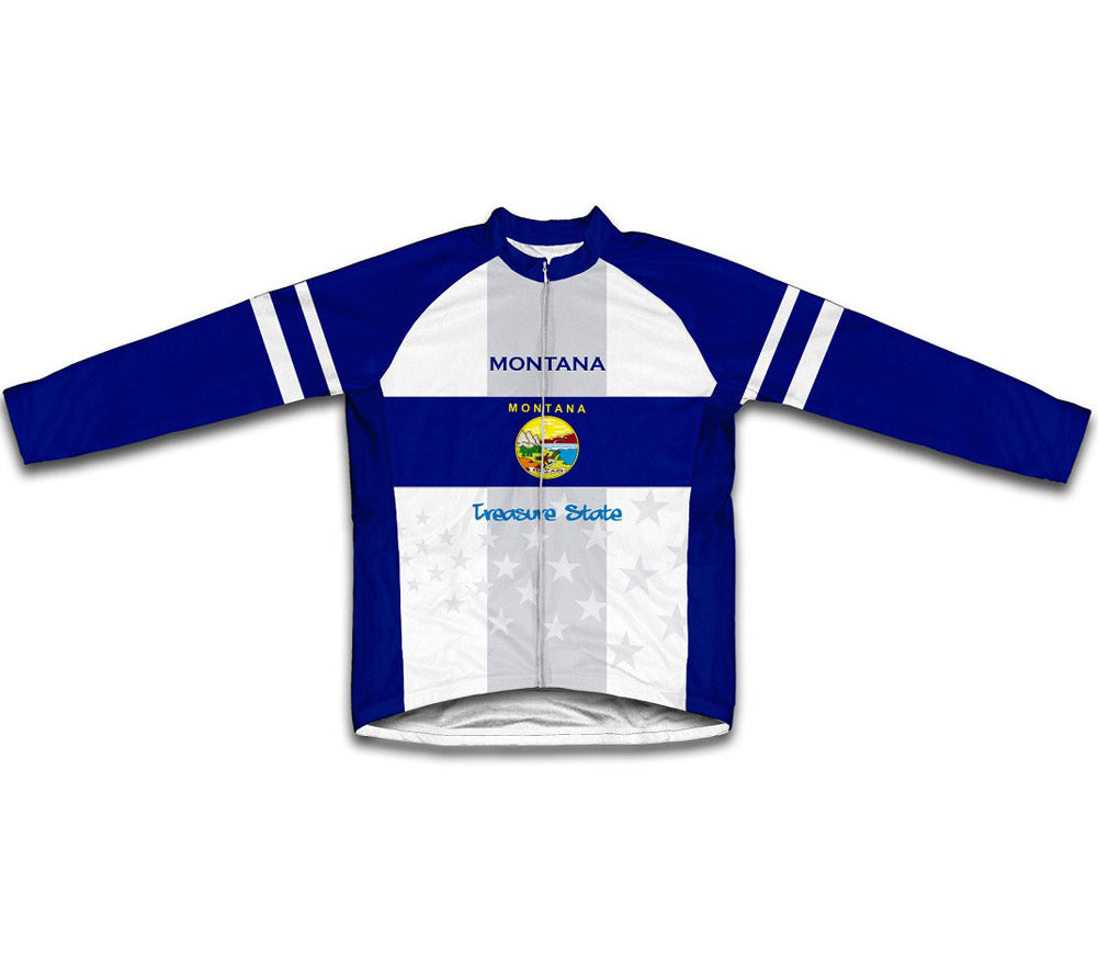 Montana Flag Winter Thermal Cycling Jersey